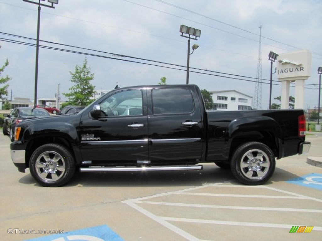 onyx black 2011 gmc sierra 1500 sle crew cab exterior photo 81442417. Black Bedroom Furniture Sets. Home Design Ideas