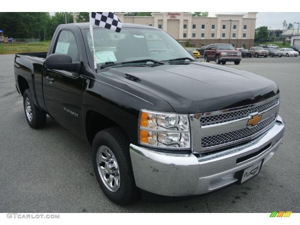 2013 Silverado 1500 Work Truck Regular Cab - Black / Dark Titanium photo #1