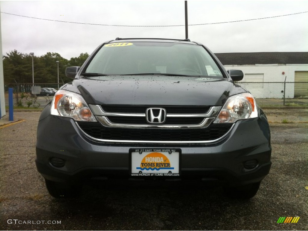 2011 CR-V EX-L 4WD - Polished Metal Metallic / Black photo #2