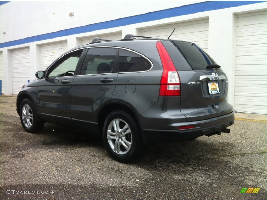 2011 CR-V EX-L 4WD - Polished Metal Metallic / Black photo #5