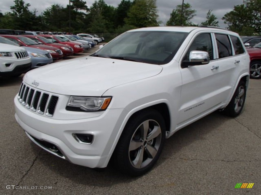 bright white 2014 jeep grand cherokee overland 4x4 exterior photo 81467271. Black Bedroom Furniture Sets. Home Design Ideas