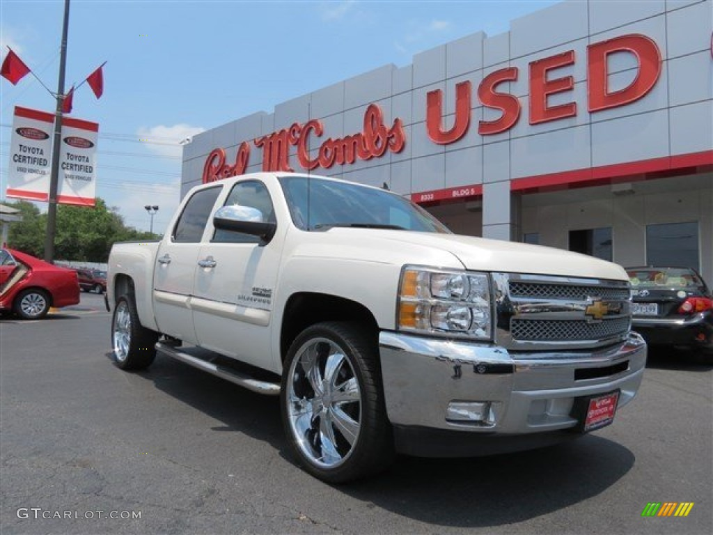 2012 Silverado 1500 LT Crew Cab - White Diamond Tricoat / Ebony photo #1