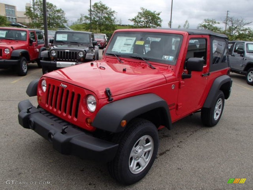flame red 2013 jeep wrangler sport 4x4 exterior photo 81470865. Black Bedroom Furniture Sets. Home Design Ideas