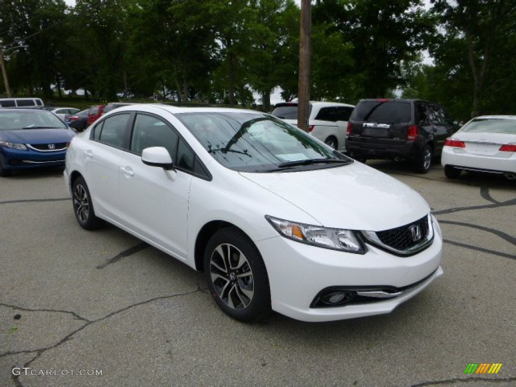 White Orchid Pearl Honda Civic