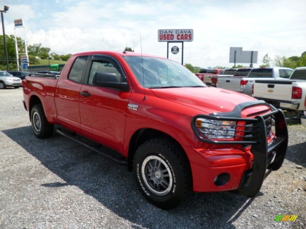 2013 tundra trd rock warrior double cab 4x4 radiant red black photo 1