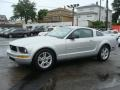 2007 Satin Silver Metallic Ford Mustang V6 Deluxe Coupe  photo #3