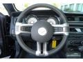2011 Ford Mustang CS Charcoal Black/Carbon Interior Steering Wheel Photo