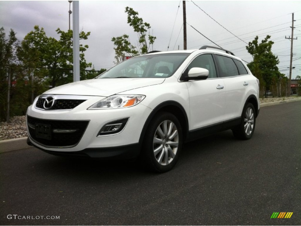 2010 crystal white pearl mica mazda cx 9 grand touring awd. Black Bedroom Furniture Sets. Home Design Ideas