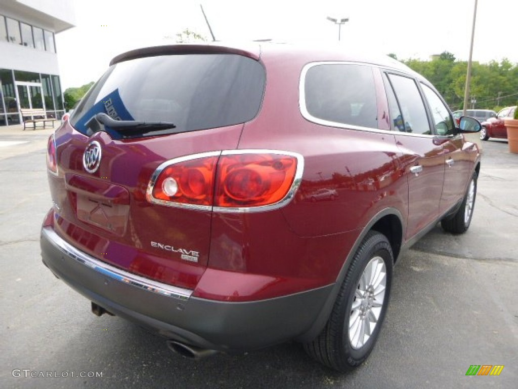2008 Enclave CXL - Red Jewel / Cashmere/Cocoa photo #3