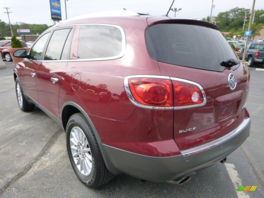 2008 Enclave CXL - Red Jewel / Cashmere/Cocoa photo #5
