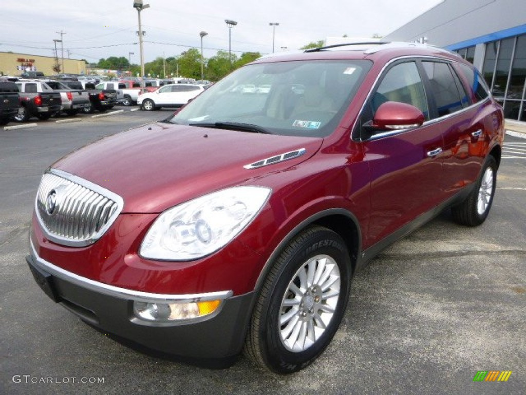 2008 Enclave CXL - Red Jewel / Cashmere/Cocoa photo #7
