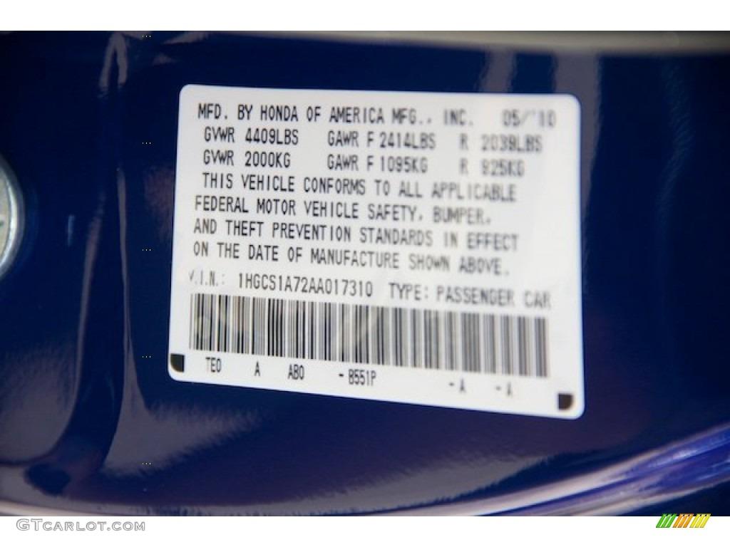2010 Honda Accord Ex Coupe Color Code Photos Gtcarlot Com