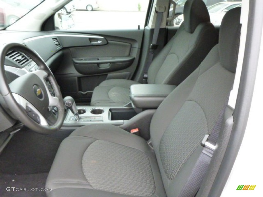 Ebony Interior 2012 Chevrolet Traverse Lt Awd Photo 81542847