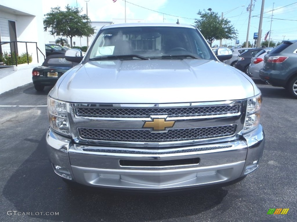 2013 Silverado 1500 LT Crew Cab - Silver Ice Metallic / Ebony photo #2