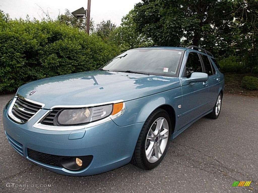 2008 ice blue metallic saab 9 5 aero sportcombi 81540587. Black Bedroom Furniture Sets. Home Design Ideas