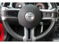 2010 Ford Mustang Charcoal Black Interior Steering Wheel Photo