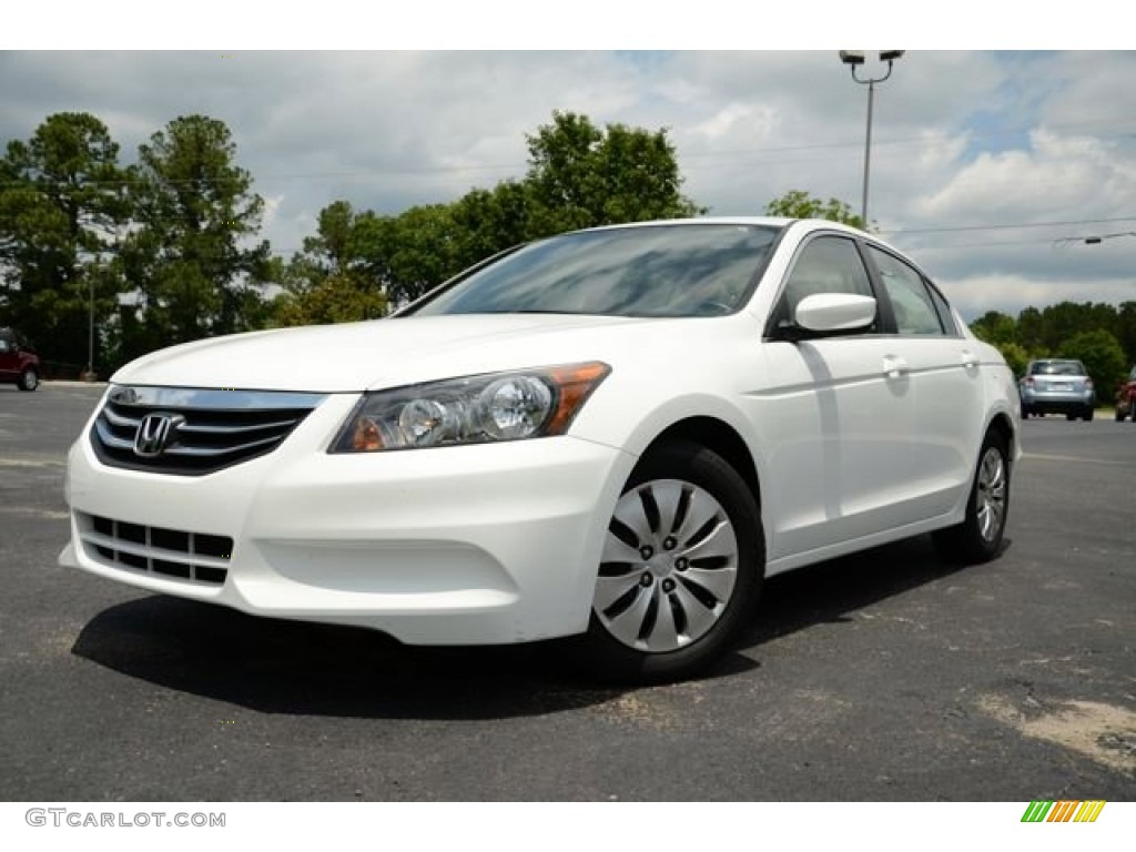 Taffeta White 2012 Honda Accord Lx Sedan Exterior Photo