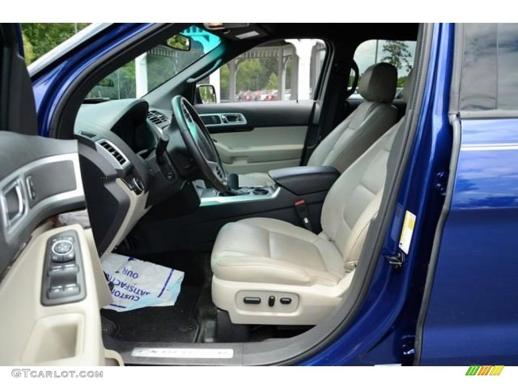 Medium Light Stone Interior 2013 Ford Explorer Limited Photo #81575196