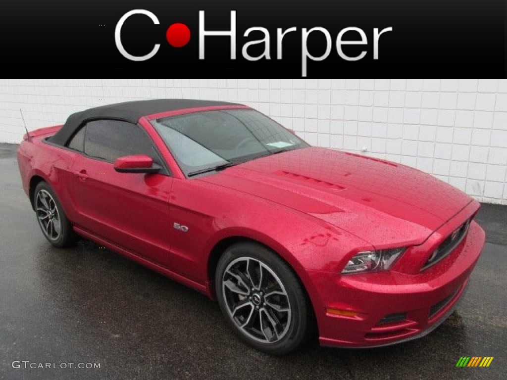2013 mustang gt premium convertible red candy metallic charcoal blackcashmere accent photo