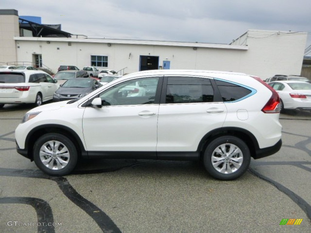 2013 CR-V EX-L AWD - White Diamond Pearl / Black photo #6