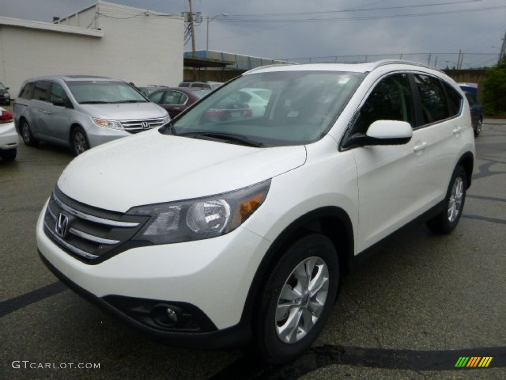 2013 CR-V EX-L AWD - White Diamond Pearl / Black photo #7
