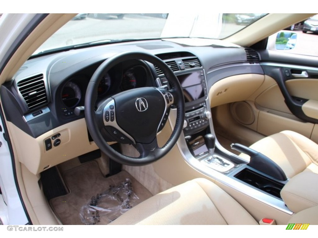 parchment interior 2008 acura tl 3 2 photo 81609841. Black Bedroom Furniture Sets. Home Design Ideas