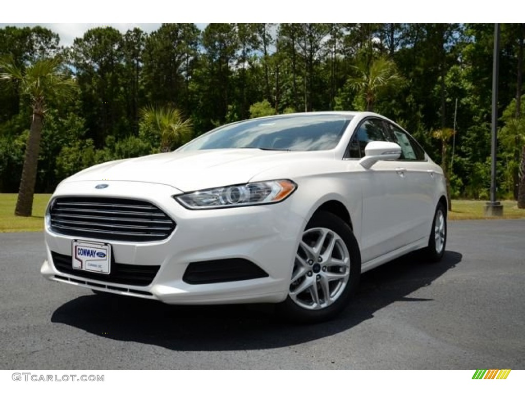 2013 Fusion SE - Oxford White / Charcoal Black photo #1