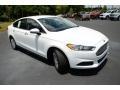 2013 Oxford White Ford Fusion S  photo #3