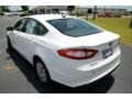 2013 Oxford White Ford Fusion S  photo #7