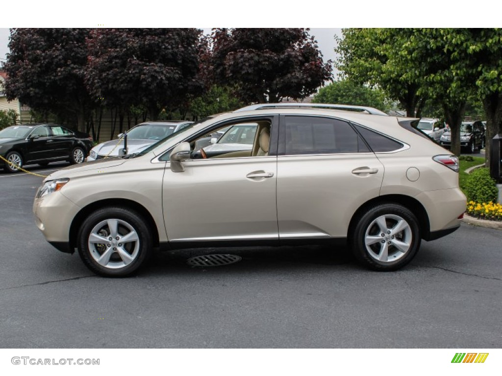 Satin Cashmere Metallic 2012 Lexus Rx 350 Exterior Photo 81619473