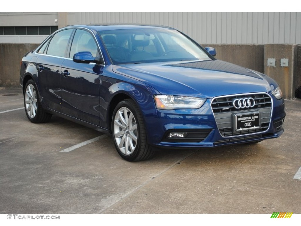 2013 a4 2 0t quattro sedan scuba blue metallic black photo 1