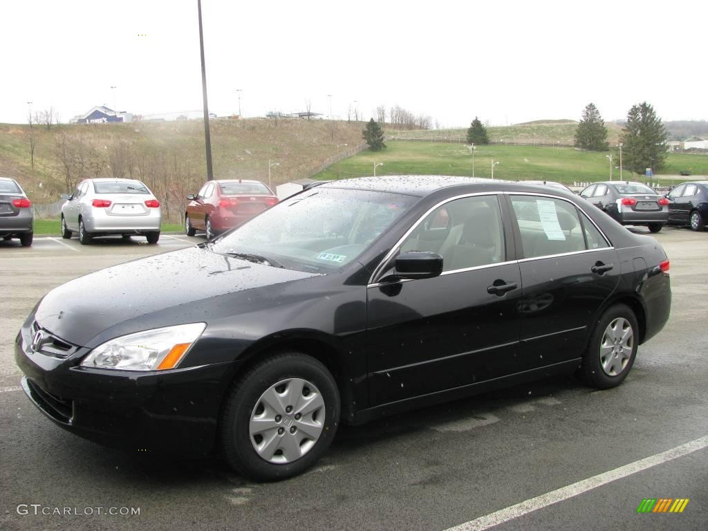 2003 Accord LX Sedan - Nighthawk Black Pearl / Ivory photo #1
