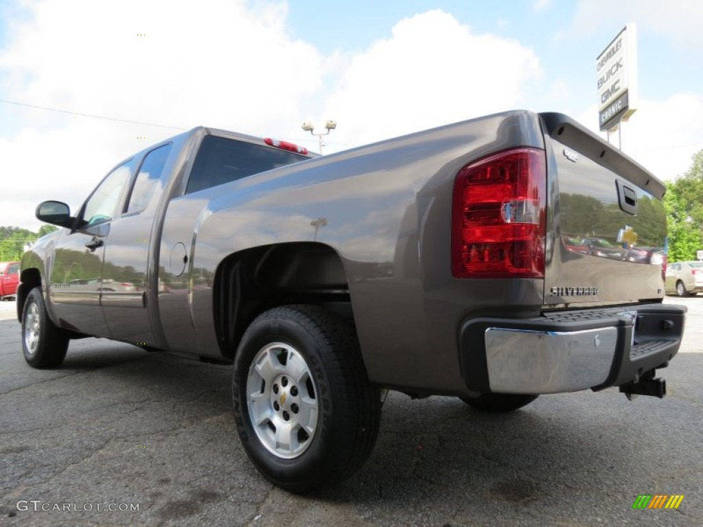 2013 Silverado 1500 LT Extended Cab - Mocha Steel Metallic / Light Cashmere/Dark Cashmere photo #5