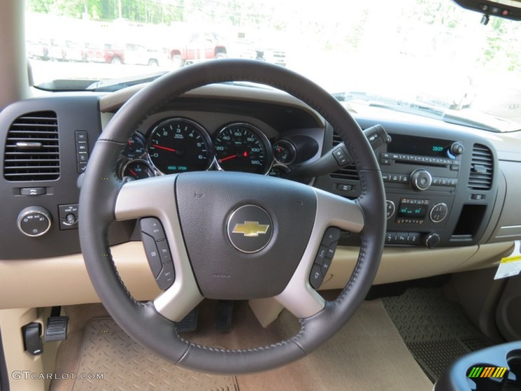 2013 Silverado 1500 LT Extended Cab - Mocha Steel Metallic / Light Cashmere/Dark Cashmere photo #12