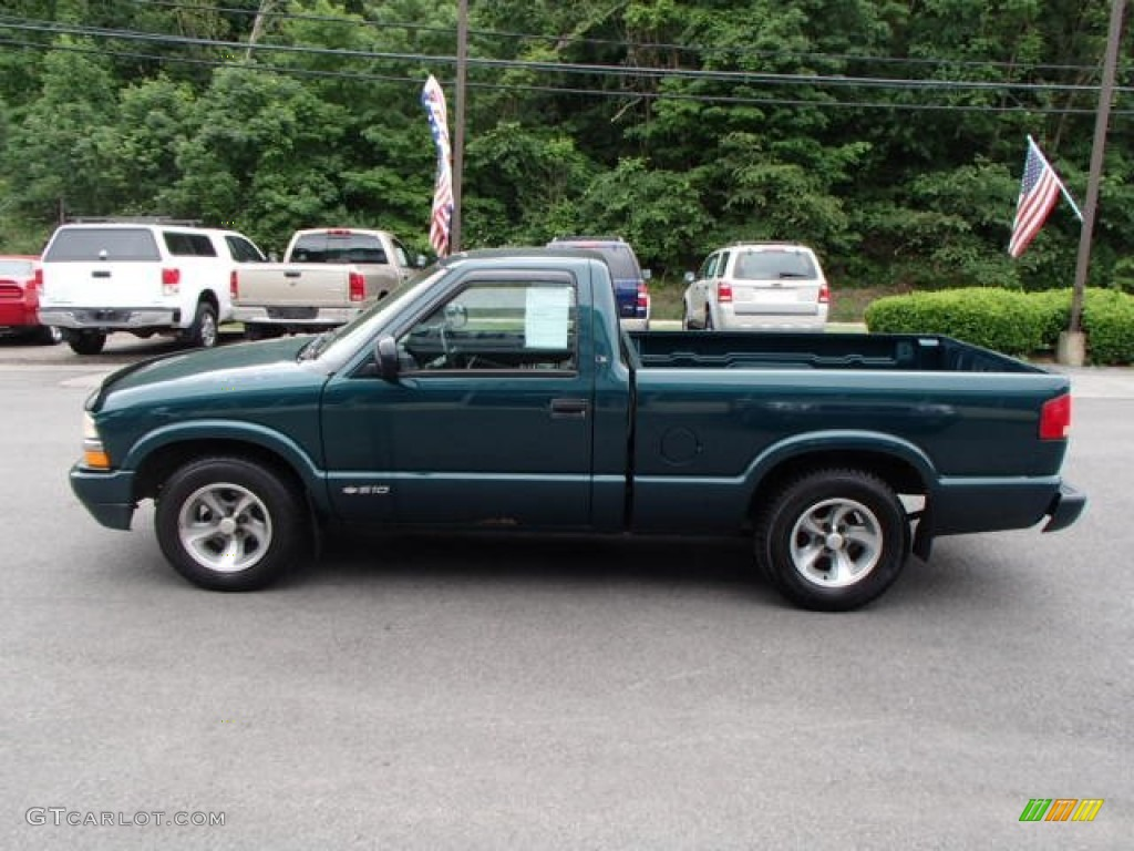 emerald green metallic 1998 chevrolet s10 ls regular cab. Black Bedroom Furniture Sets. Home Design Ideas