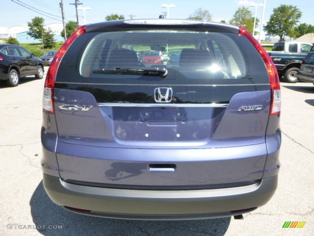 2013 CR-V LX AWD - Twilight Blue Metallic / Gray photo #4