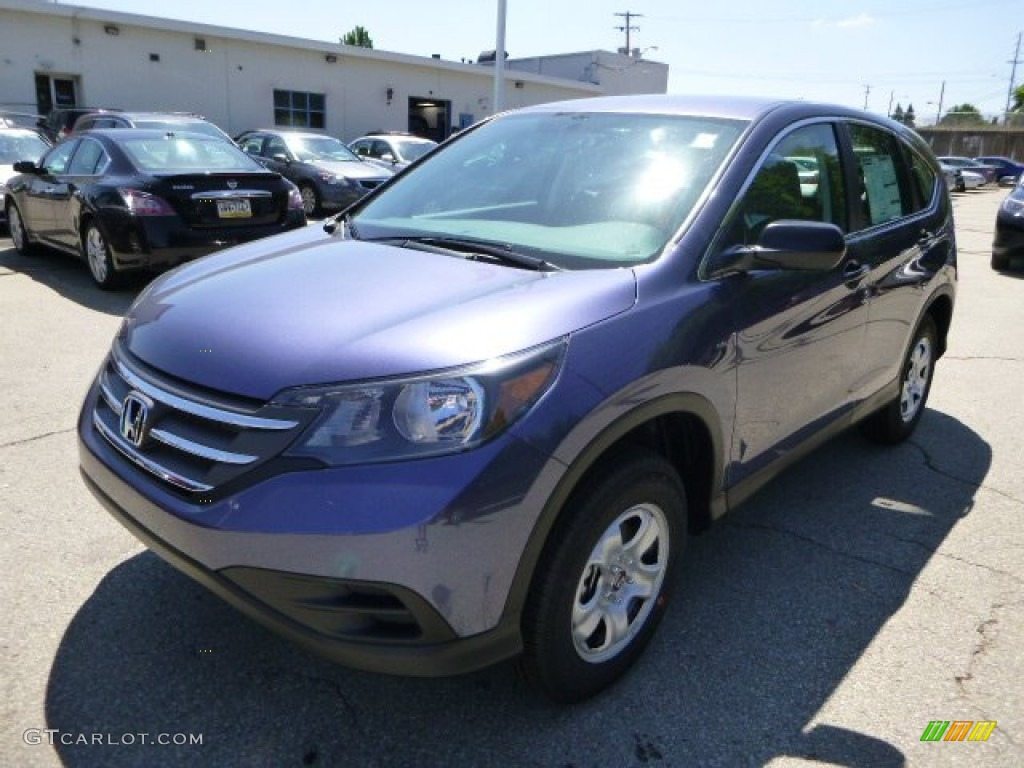 2013 CR-V LX AWD - Twilight Blue Metallic / Gray photo #7