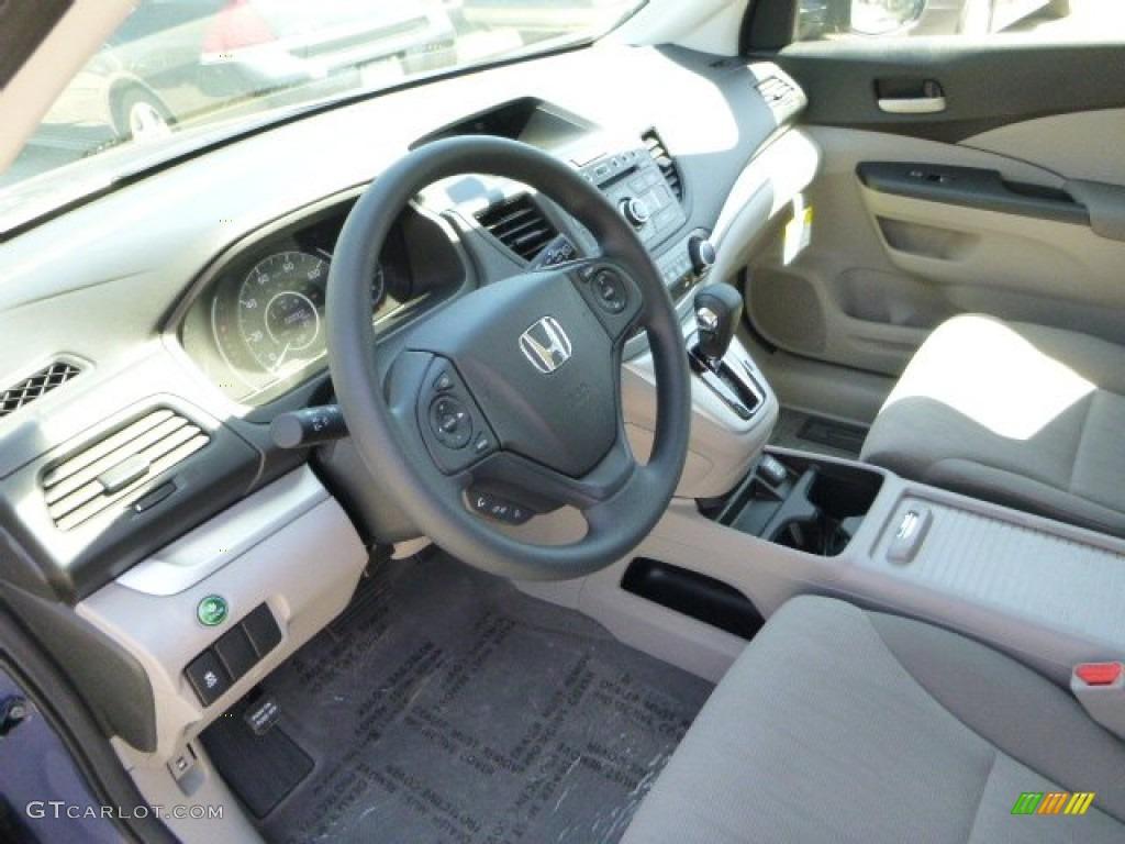 2013 CR-V LX AWD - Twilight Blue Metallic / Gray photo #15