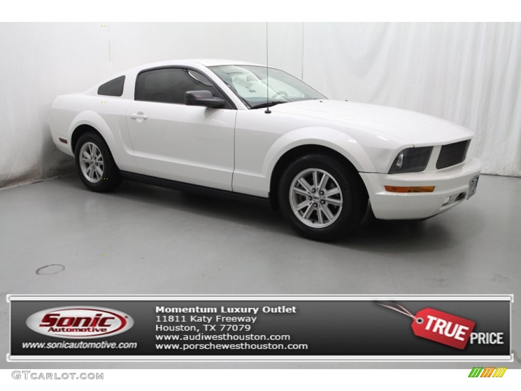 2006 Mustang V6 Deluxe Coupe - Performance White / Light Parchment photo #1