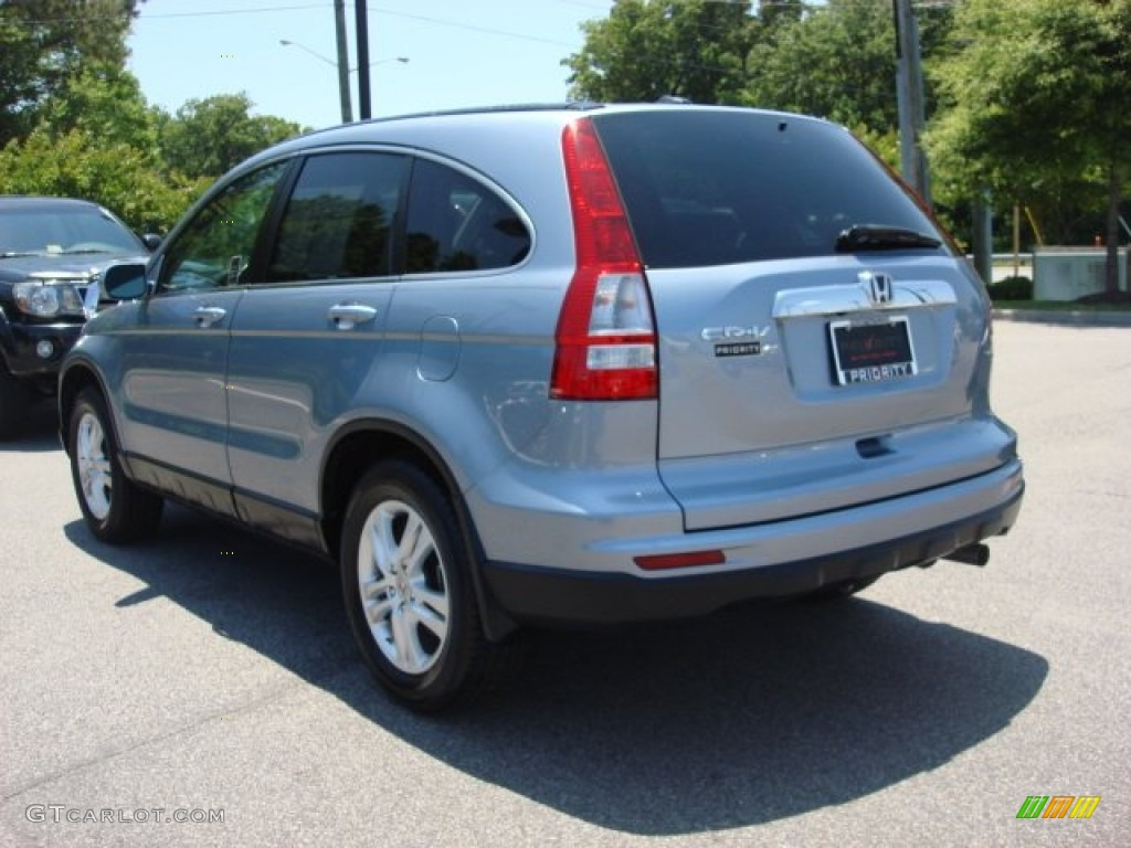 2010 CR-V EX-L - Glacier Blue Metallic / Gray photo #5