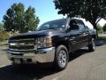2013 Black Chevrolet Silverado 1500 LS Crew Cab 4x4  photo #1