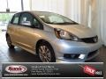 Alabaster Silver Metallic 2013 Honda Fit Sport Navigation