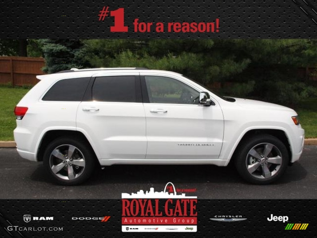2014 bright white jeep grand cherokee overland 4x4 81870217 car color galleries. Black Bedroom Furniture Sets. Home Design Ideas