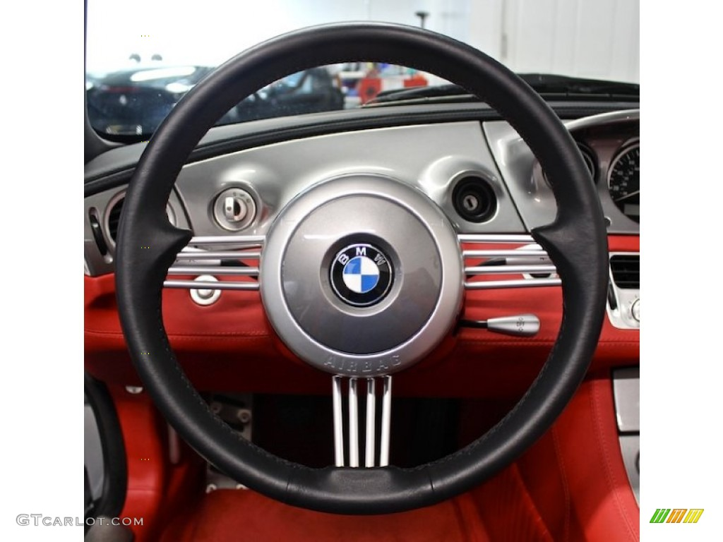 2000 Bmw Z8 Roadster Sports Red Black Steering Wheel Photo