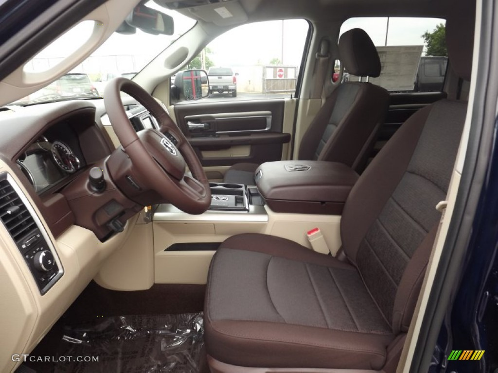 Canyon brown light frost beige interior 2013 ram 1500 big horn crew cab 4x4 photo 81951062