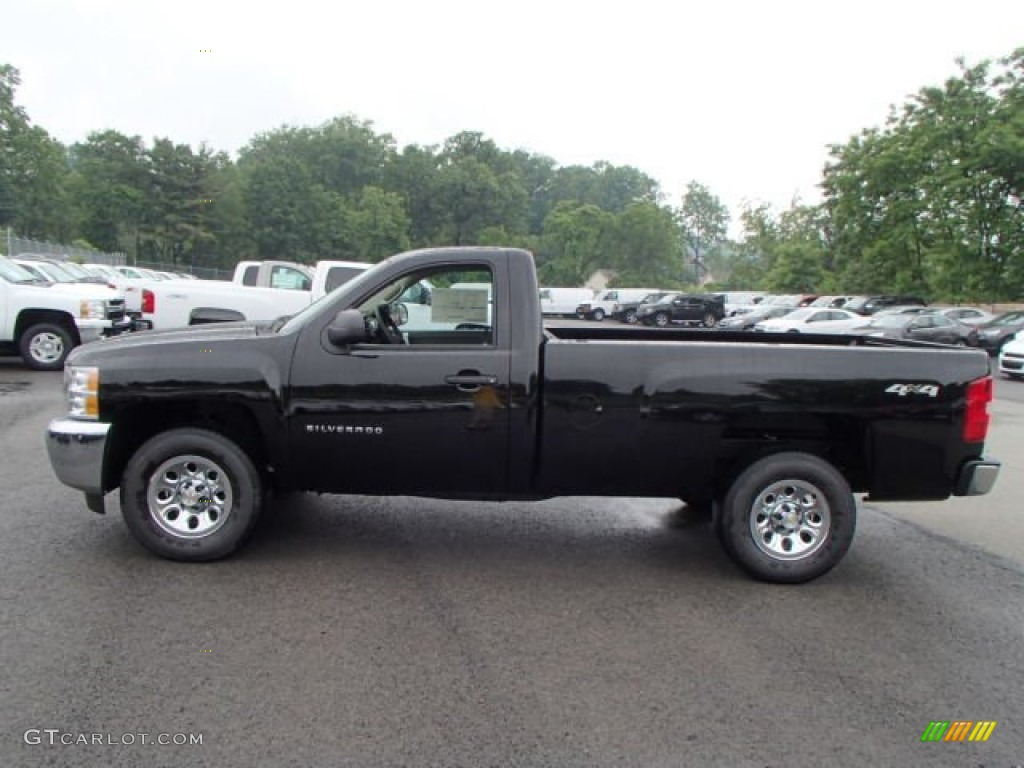 2013 Silverado 1500 LS Regular Cab 4x4 - Black / Dark Titanium photo #1