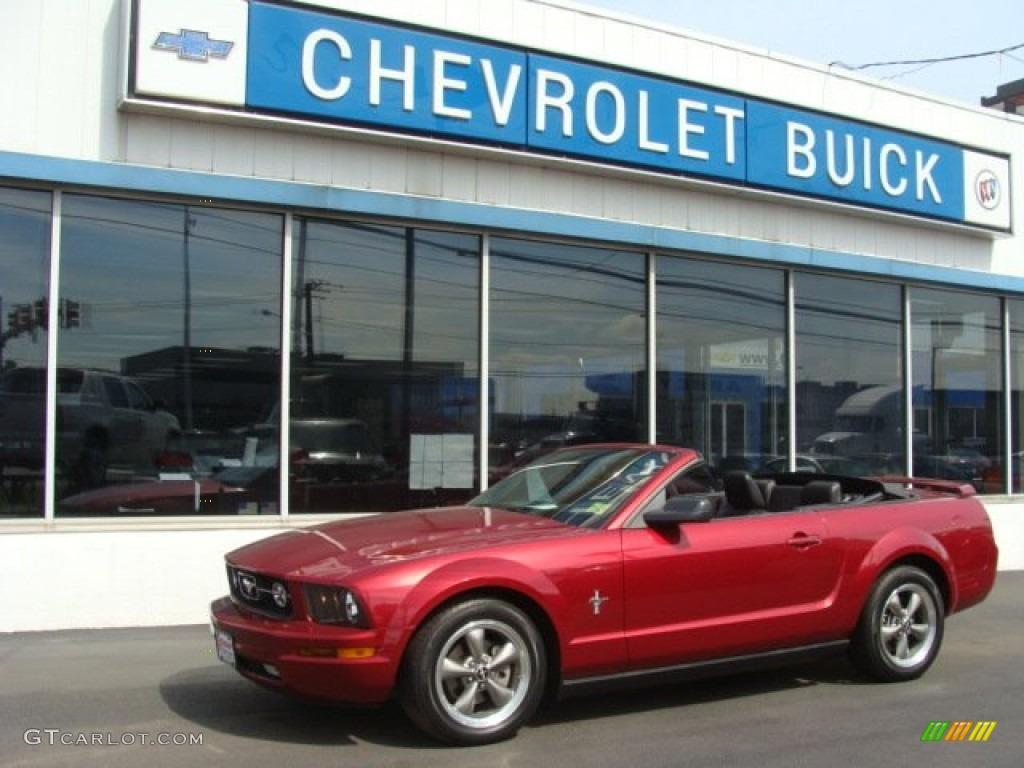 2006 Mustang V6 Premium Convertible - Redfire Metallic / Dark Charcoal photo #1