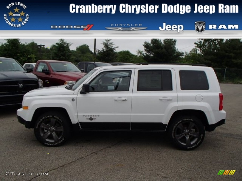 2013 bright white jeep patriot oscar mike freedom edition 4x4