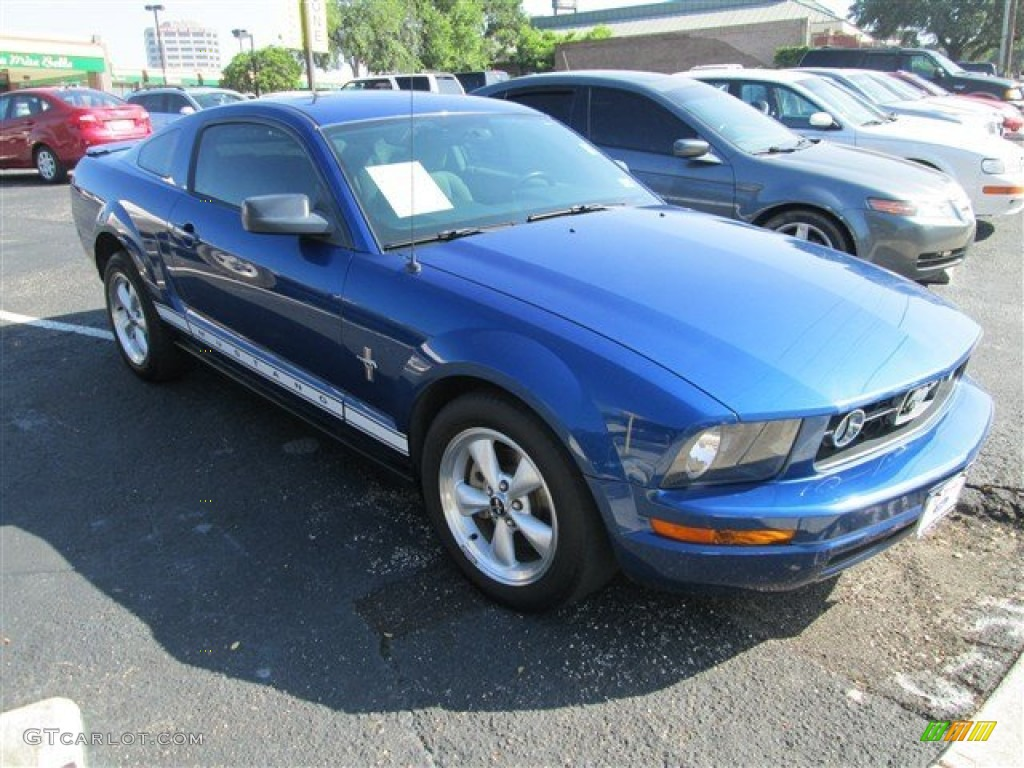 2007 Mustang V6 Premium Coupe - Vista Blue Metallic / Light Graphite photo #1