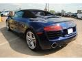 2014 R8 Spyder V8 Estoril Blue Crystal Effect
